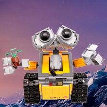 YILE 307 legoing Técnica de Construção De Tijolos 687 pcs Idéia Robô WALL-E Modelo Blocos Brinquedos Educativos Presente Das Crianças Compatível 21303
