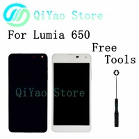 For Nokia Microsoft Lumia 650 New LCD Display Touch Screen Digitizer Assembly Frame