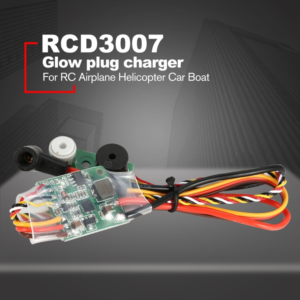 RC Methanol Motor Ontsteking RCD3007 Engine Ignition Glow Plug Starter Driver for RC Airplane Helicopter Car Boat image