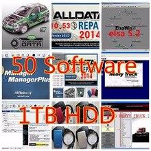 Автосервис программного обеспечения Alldata v10.53 все данные и Митчелл 2015 + тяжелый грузовик ect все данные программного обеспечения 50 в 1 ТБ HDD