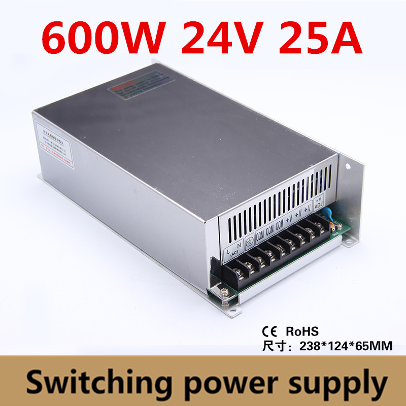 High Quality 600W 24V 25A Switching Power Supply Driver Adapter Voltage Transformer for Led Strip Light, industry 110V/220VHigh Quality 600W 24V 25A Switching Power Supply Driver Adapter Voltage Transformer for Led Strip Light, industry 110V/220V