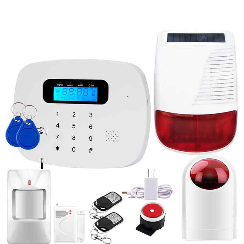 Écran tactile GSM téléphone portable carte système d'alarme anti-vol alarme GSM multi-langue pour portes et fenêtres de la maison