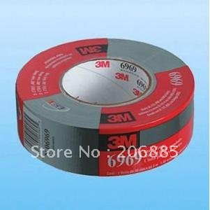 100% Original 3M 6969S Cloth Duct tape/Ruban pour condults tape/strong water proof backing/48mm*55M/Silver color