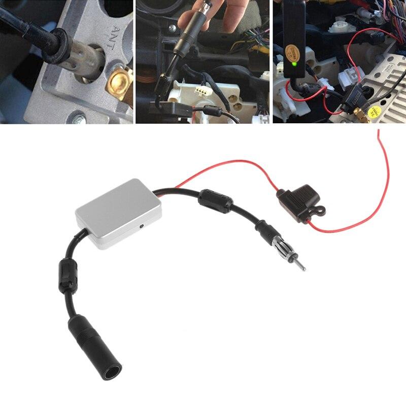 Universal FM Signal Amplifier Car Antenna Radio Booster 88-108Mhz DC 5-12V