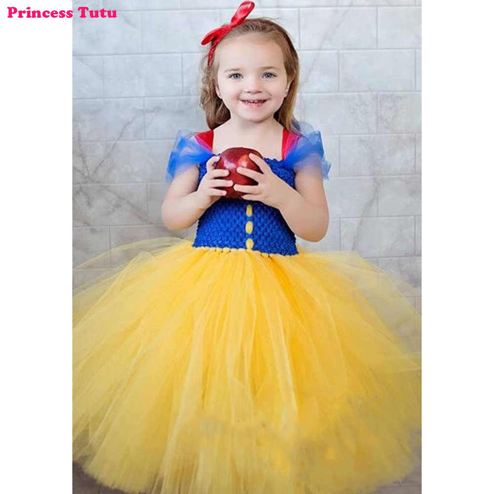 11d0ea8121c0 Princess Snow White Tutu Dress Baby Kids Girls Birthday Party Photograph  Cartoon Dresses Children Christmas Easter