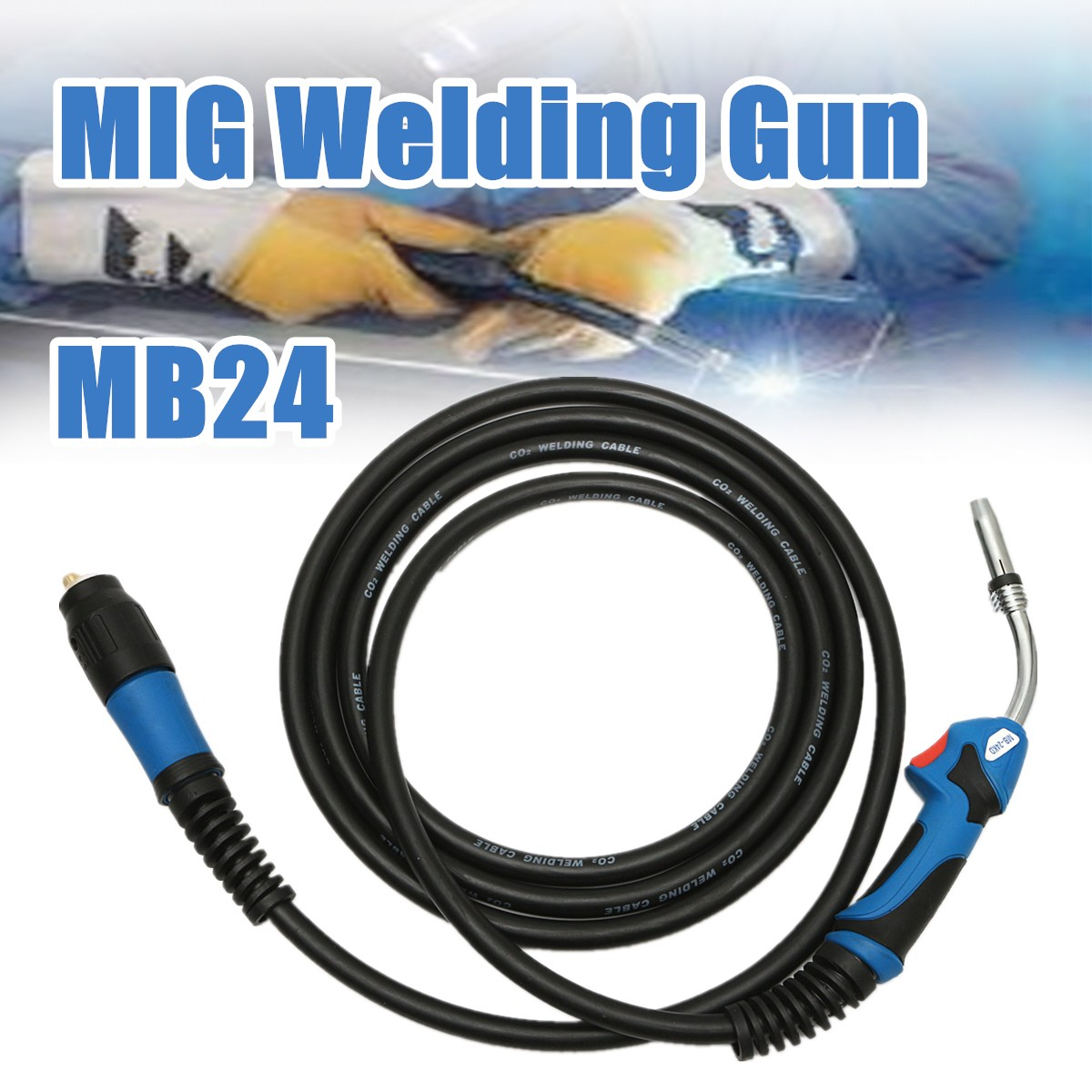 все цены на High Quality MB24 MIG Welding Gun-Torch with 5 Meter Length Lead Electric Welder Torch Stinger Parts