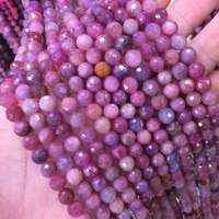 natural red zoisite stone beads natural gemstone beaeds DIY loose beads for jewelry making strand 15 wholesale !