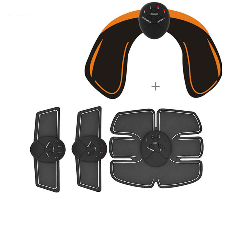 YOSYO 6 paket EMS Smart Muscle Stimulator Bauch Trainer Pad + EMS Hüfte Trainer Gesäß Butt Abnehmen Lifting Massage Unisex