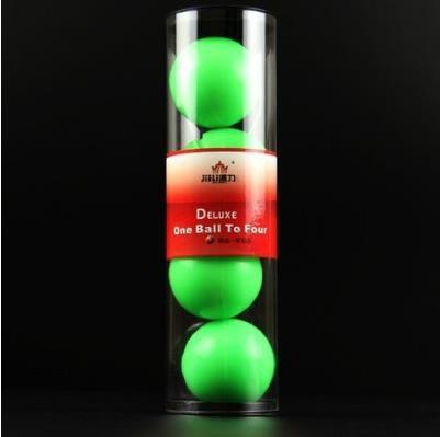 Livraison gratuite! Une balle à quatre (vert, lumineux)-tours de magie, boules de multiplication Deluxe, magie de scène, gros plan, comédie, accessoires