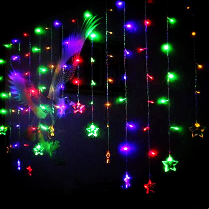 New Year 5x1M Stars Garland LED Christmas Lights Garlands Decoration Cristmas String Lights Luces De Navidad Natal String light 3x6m led net lights 800 smds christmas natal new year garlands waterproof led string indoor outdoor landscape lighting wholesale