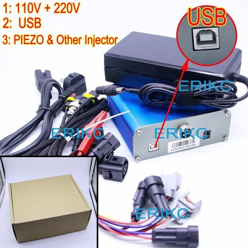 2019 ERIKC CR Injektor Tester für Bosch Denso Delphi Elektromagnetische Piezo Injektor Kraftstoff CRI800 Injektor USB 110V & 220V pizeo