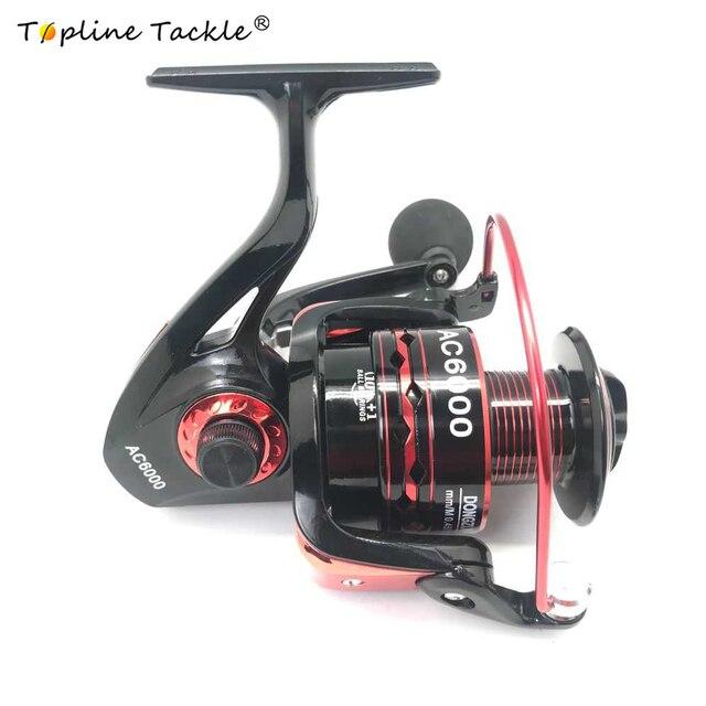 Topline Tackle Carp Fishing Reel Spinning Reel Speed 5.5:1 10+1BB Ball Bearings Left/Right Sea Fishing Wheel Metal Pesca