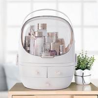 HOT Dust proof Makeup Storage Box Desktop Cosmetics Box Dressing Table Skin Care Products Brush Lipstick Storage Rack