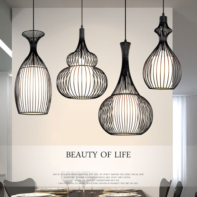 vintage pendant lights Restaurant Coffee Bedroom Lighting lustre retro industrial pendant lamps hanglampen for dining kitchen