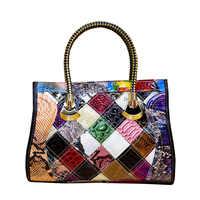 2019new Leder Rindsleder Mode Multi Farbe Farbe Passenden Trend Handtaschen Frauen Handtasche Geschlungen Damen Tasche Designer Marke Big Bags
