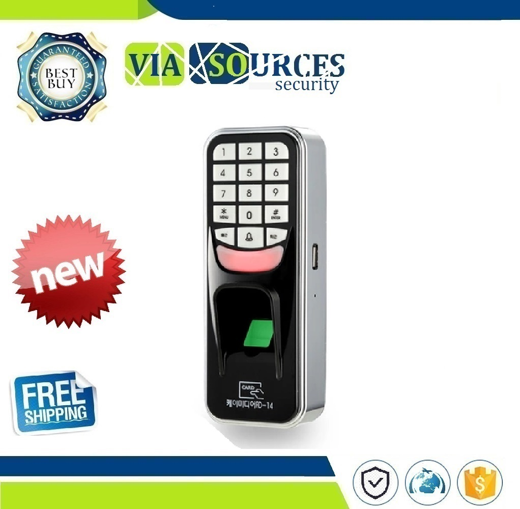 Fingerprint Password Key Lock Access Control Machine Biometric Electronic Door Lock RFID Reader Scanner System цены
