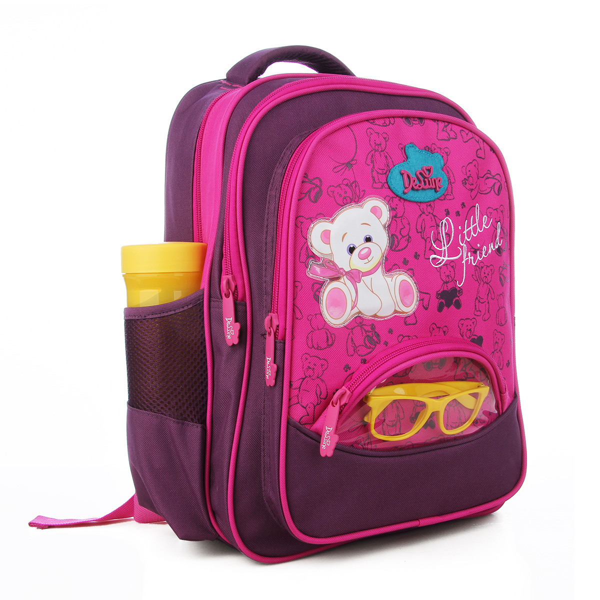 Delune Kids Backpack Schoolbags for Boys Girls New Design Cute Cartoon Bear  Schoolbags High Quality Silk Printed SchoolBags-in School Bags from Luggage  ... 63f454e749bed