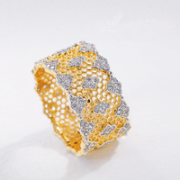 S925 Sterling Silver Jewelry Honeycomb Lace Antique Palace Rings For Women