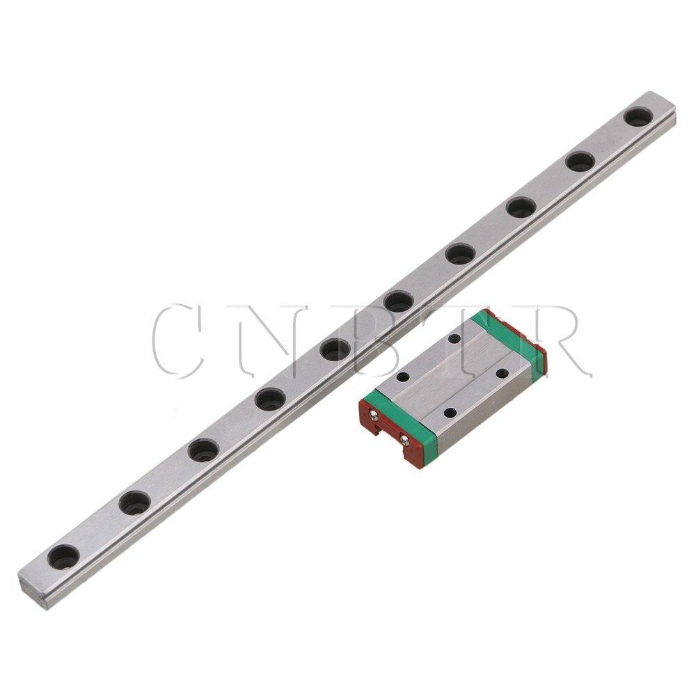 CNBTR 200mm MGN9 Steel Extended Guide Linear Bearing Slide Rails & MGN9H Sliding Block for Precision Measurement Equipment Set food security measurement guide