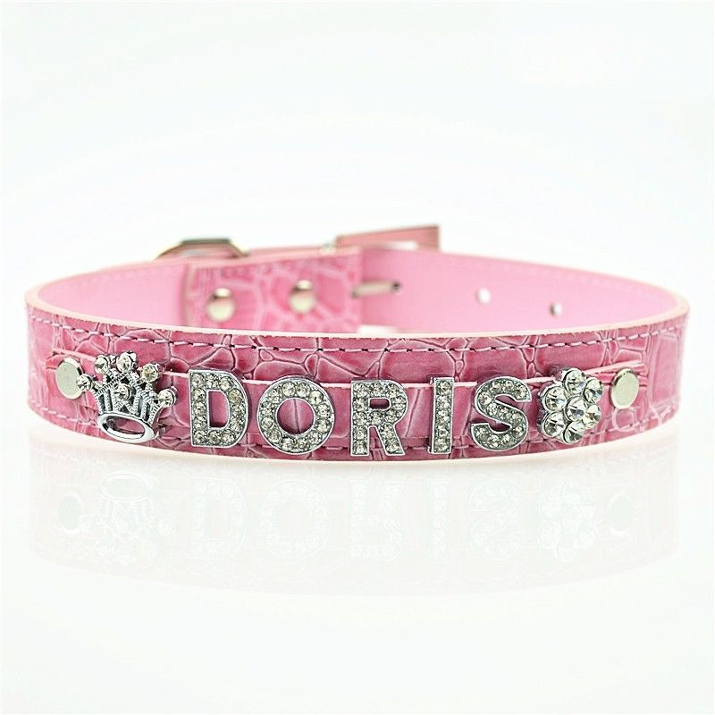Dropwow 10MM Bling Personalized Dog Collar With Rhinestone Buckle ... 7d581eb6a2a9