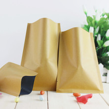 dhl 812cm open top party kraft paper aluminum foil food coffee storage packaging bags heat seal mylar package pouch 800pcslot