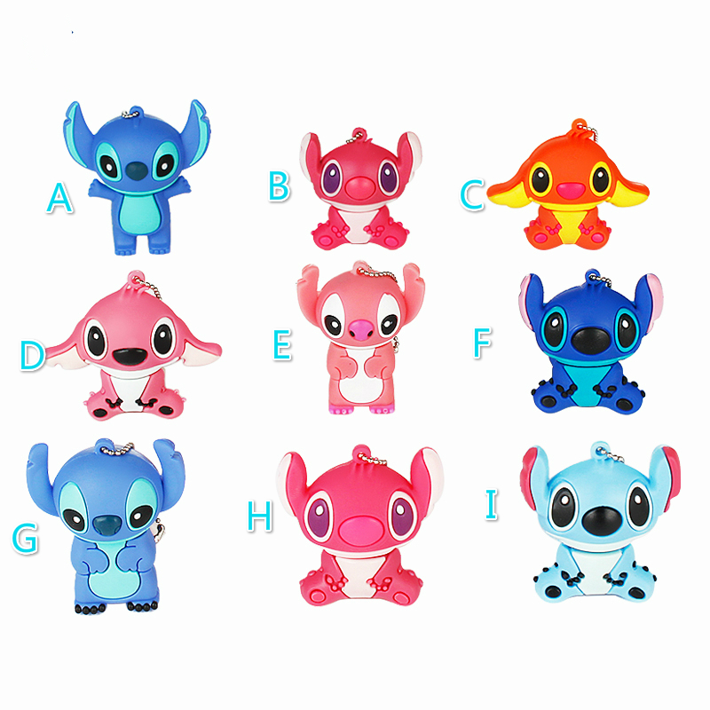 2019 Cute Stitch 32GB Usb Flash Drive Cartoon Pen Drive 64gb 128gb Pendrive 16gb 8gb 4gb Usb 2.0 Flash Memory Stick Lovely Gift-in USB Flash Drives from Computer & Office