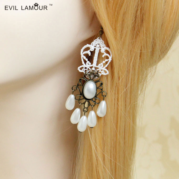 Wholesale gold ear tops designs natural pearl clip earring jewelry ...