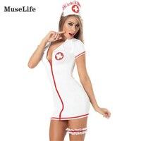 Plus größe sexy teddy krankenschwester kostüm mit bein gürtel SM Cosplay sexy kostüme erotische kleid erwachsene sexy dessous
