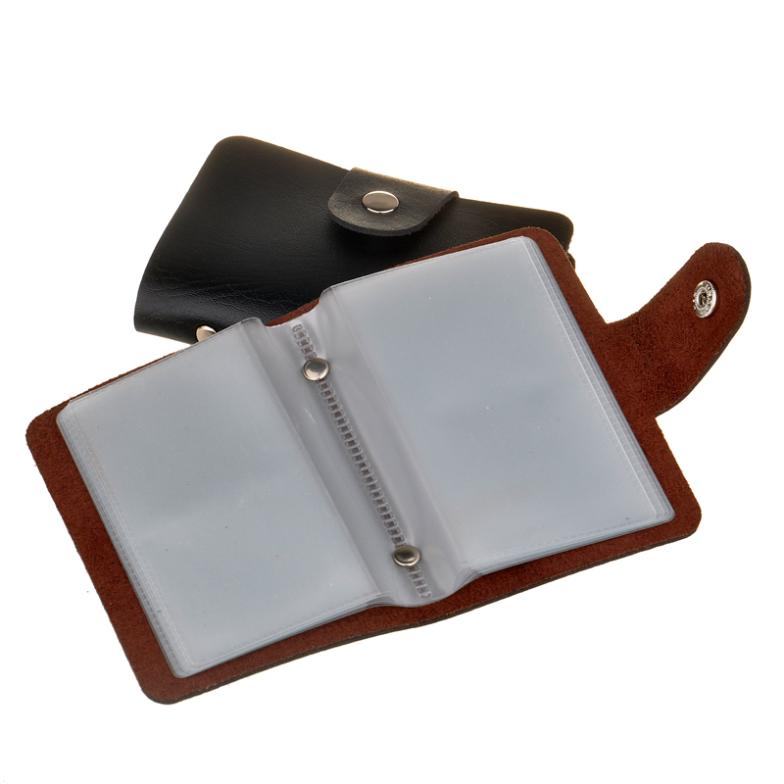 Free shipping mens leather credit card holdercase card holder free shipping mens leather credit card holdercase card holder wallet business card package pu leather bag 24 set 70g wholesale in card id holders from reheart Choice Image