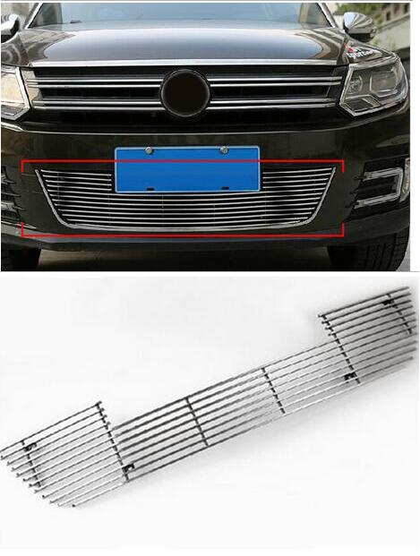 For Vw Tiguan 2010 2011 2012 2013 2014 2015 Metal 1Set Car Auto Accessory Front Grille Trim Racing Round Trim free shipping leather car floor mat for chevrolet sail 2nd generation 2010 2011 2012 2013 2014 2015 2016