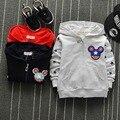 Ocasional Otoño Primavera Estrella de la Historieta Niñas niños Chaquetas de la Rebeca Del Bebé Infantil Niños Niños Tapa Encapuchada Outwear Abrigos MT808