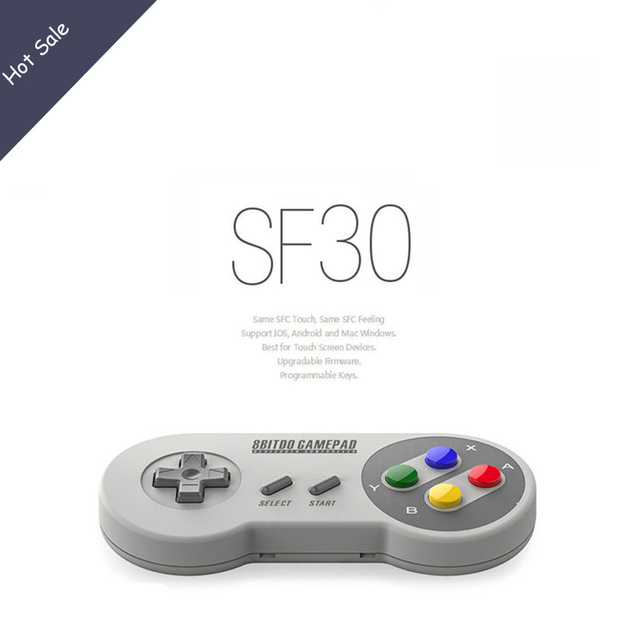 8Bitdo SF30 Finger Spinner Quality Wireless Bluetooth Controller Dual Classic Joystick for iOS Android Gamepad PC Mac Linux