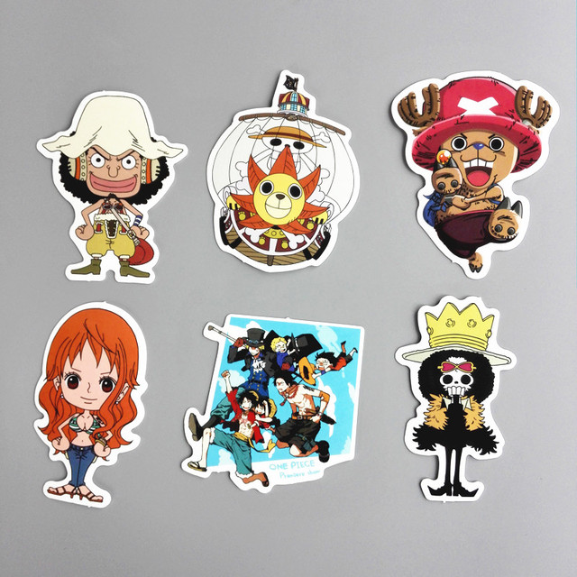 One Piece Stickers For Kids Home Decor Decals 6pcs