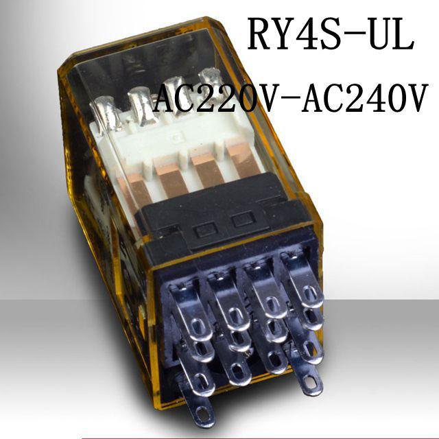 NEW relay RY4S-UL AC220V-240V RY4S-UL-AC220V-240V AC220V AC240V 220VAC 240VAC 5A 240VAC 14PIN стартер s10 4 65w 220 240v