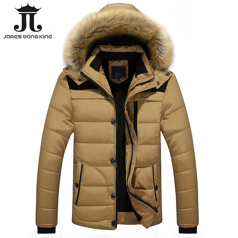 Parka Men Cotton Padded Outerwear Winter Thick Warm Hooded Men's Jacket 2017 Coats Collar Hooded Jackets For Men Plus Size 4XL 2017 winter jacket men cotton padded thick hooded fur collar mens jackets and coats casual parka plus size 4xl coat male