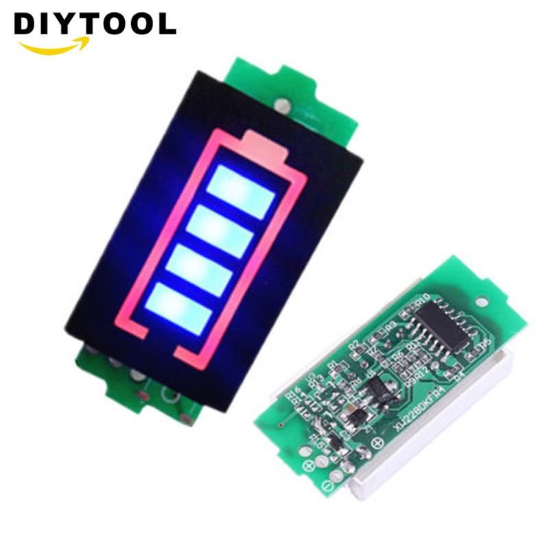 2S-4S18650 Lead Acid Lithium Battery Level Indicator Battery Status Capacity Detector Li-ion Lipo Cell Tester LCD Screen Display
