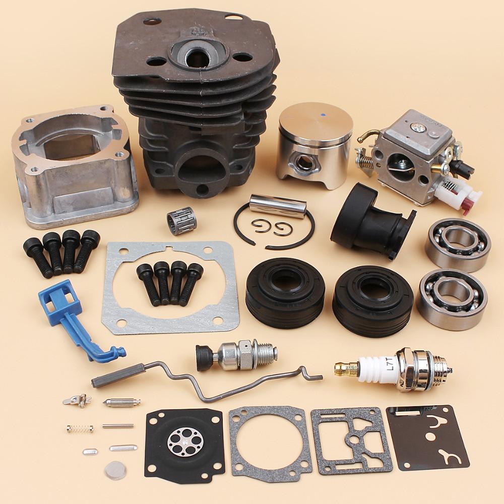 Cylindre Pan Carburateur Roulement Joint D'huile Starter Throttle Tige 44mm Kit Pour HUSQVARNA 340 350 345 Tronçonneuse Moteur pièces détachées de moteur