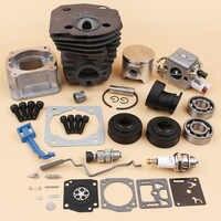 Cylindre carter carburateur roulement huile joint starter tige d'accélérateur 44mm Kit pour HUSQVARNA 340 350 345 tronçonneuse moteur pièces de rechange