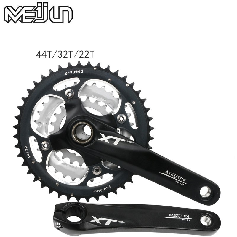 Mountain Bike Crank Set Crank Set Bicycle Toothed Wheel 22 32 44 T Dental Plate Crank
