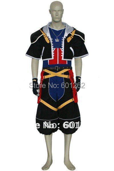 Anime Kingdom Hearts cosplay-Kingdom Hearts 2 Sora Cosplay Costumes for Halloween/Cosplay party(Freeshipping))