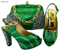 doershow African Shoes and Matching Bags Italian Shoe and Bag Set for Party In Women High Quality African Wedding Shoes TGF1 40