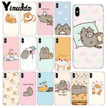 Yinuoda Kawaii Molang Cartoon Anime dog cat DIY Phone Accessories Case for Apple iPhone 8 7 6 6S Plus X XS MAX 5 5S SE XR Cover