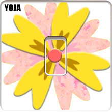 YOJA Switch Sticker Cute Simple Smart Flower Childish Creative Design PVC Room Decorative Wall Decal 15SS0015(China)