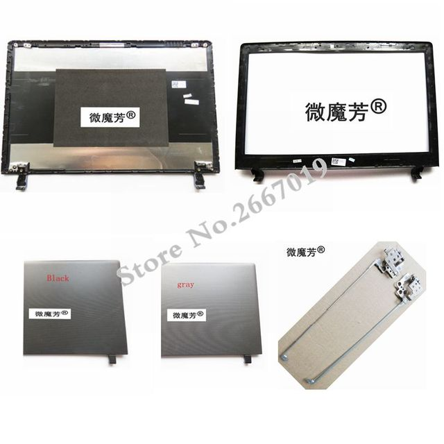 For Lenovo For ideapad 100-15 100-15IBY Laptop Top LCD Back Cover New Black and gray A Case