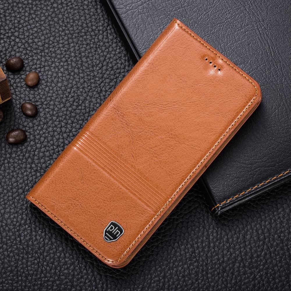 imágenes para Imán de la vendimia genuina de cuero case para letv uno le le1 1 s x500 X600/Pro X800/MAX X900 Teléfono Móvil Cubierta de Cuero de Vaca
