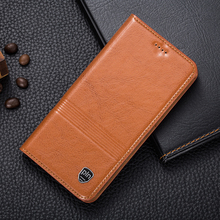Vintage Magnet Genuine Leather Case For ZTE AXON 7 A2017 5.5″ Luxury Mobile Phone Cowhide Leather Cover