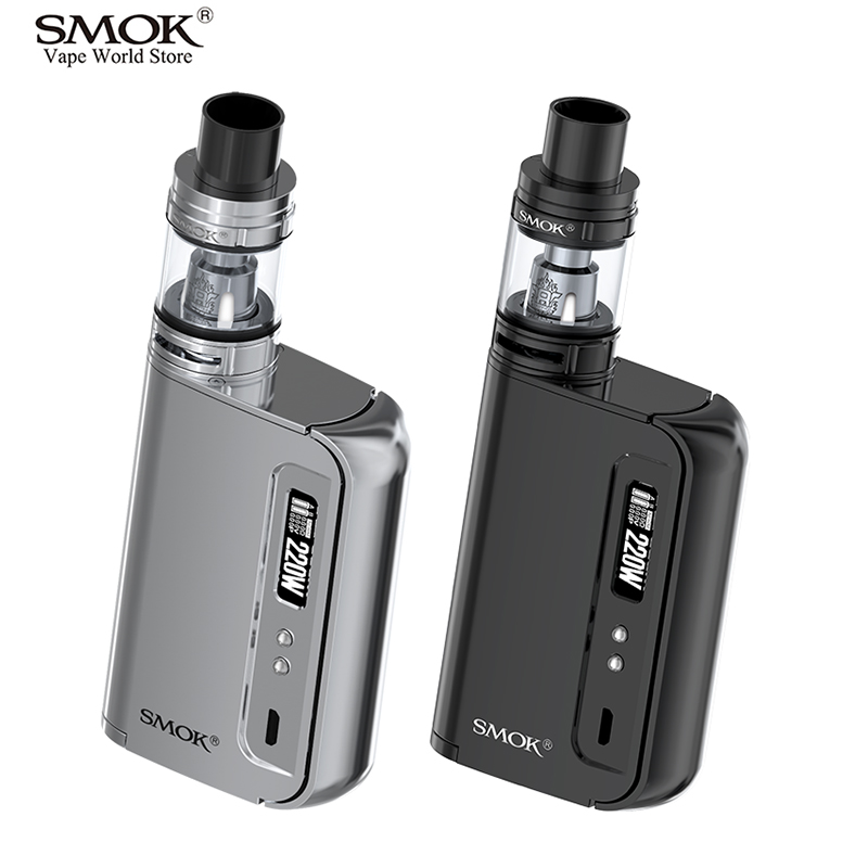 Original SMOK OSUB King Kit Electronic Cigarette Vape 220W Box Mod Kit E Hookah VS SMOK Alien iStick Pico AL85 Kit RX200S S174 electronic cigarette epipe 618 kit e pipe 618 vapor smok wood 2 5ml atomizer with 18350 battery vs e pipe k1000 guardian