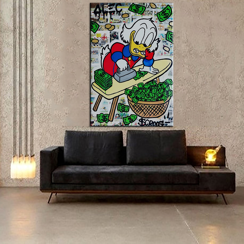 new print alec monopoly graffiti arts print canvas for wall art decoration oil painting wall painting
