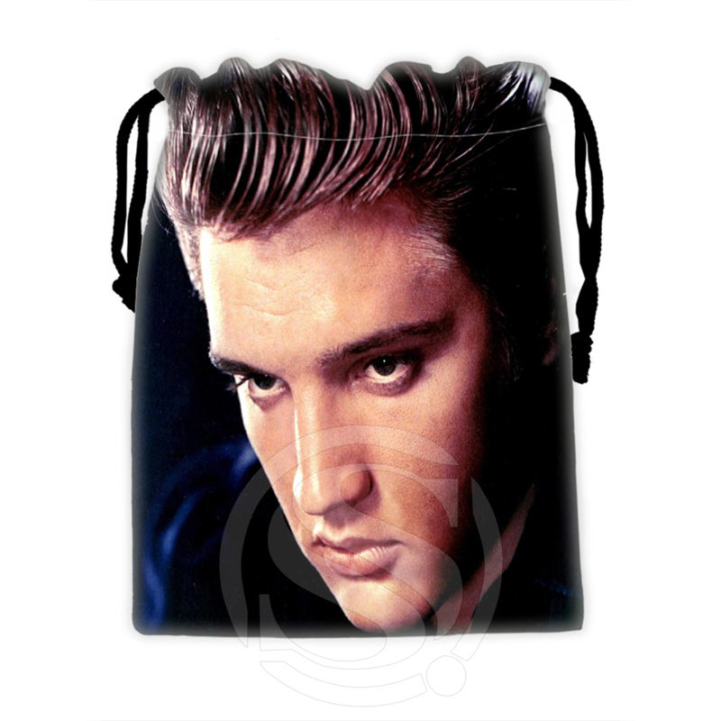 H-P726 Custom Elvis#14 Drawstring Bags For Mobile Phone Tablet PC Packaging Gift Bags18X22cm SQ00806#H0726