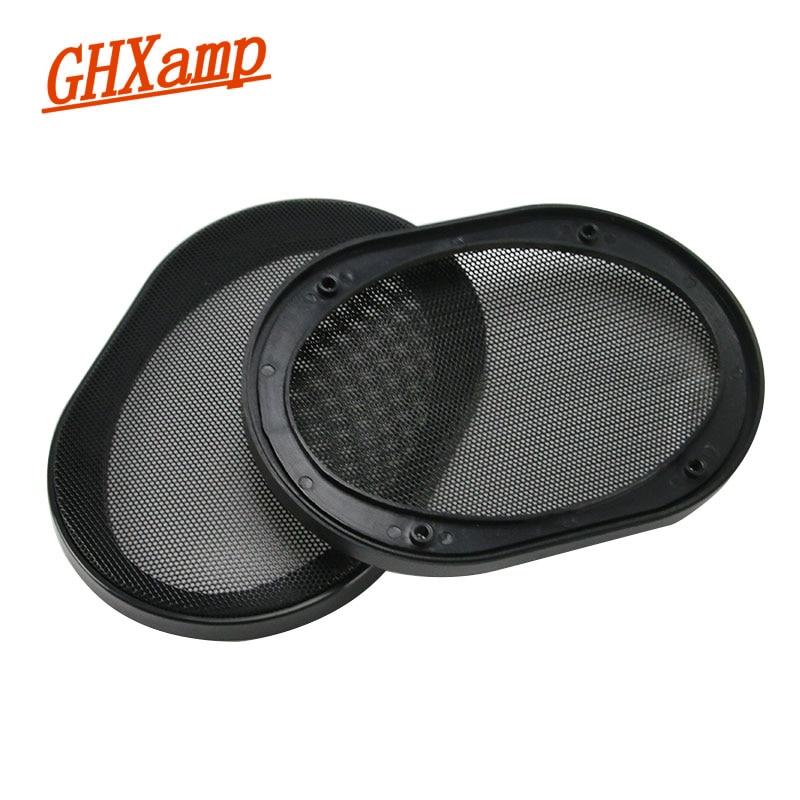 GHXAMP 2 PCS 5 * 7 pouces Haut-Parleur De Voiture Grille De Protection ABS cadre En Plastique + Couvercle En Métal Maille Enceinte Net Cover DIY